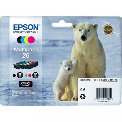 Cartucho inkjet Epson 26 Pack 4 colores 1