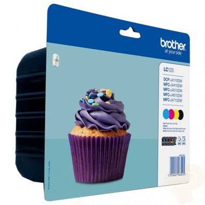 Cartucho inkjet Brother LC-123 Pack 4 colores 1