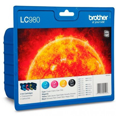 Cartucho inkjet Brother LC-980 Pack 4 colores 260 páginas 1